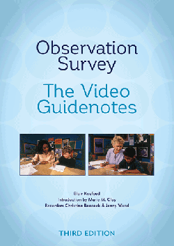 Observation Survey — The Video Guidenotes