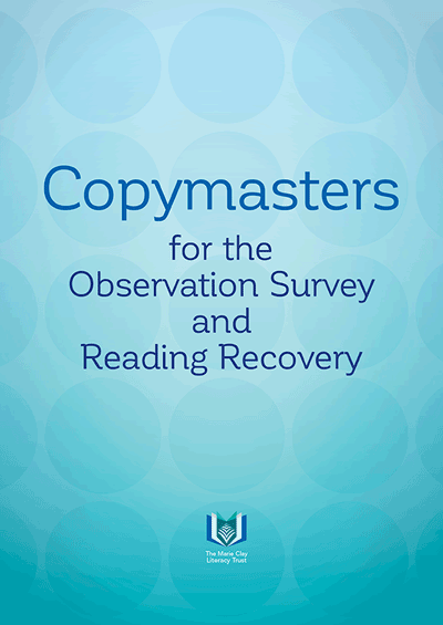 Copymasters for the Observation Survey and Reading Recovery Cover