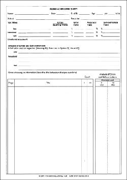 Running Record Sheet Pad - 2nd Ed