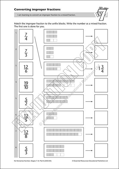Convert improper fractions Cover