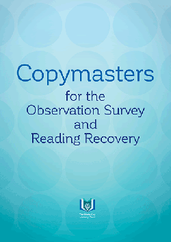 Copymasters for the Observation Survey and Reading Recovery