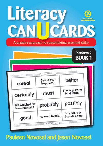 Literacy CAN U CARDS Platform 2 Bk 1 Cover