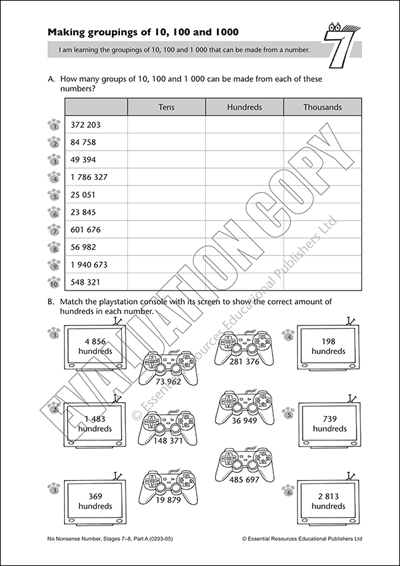 Make groupings of 10, 100 and 1 000 Cover